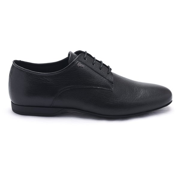 Versace Collection Mens Black Leather Oxford Dress Shoes
