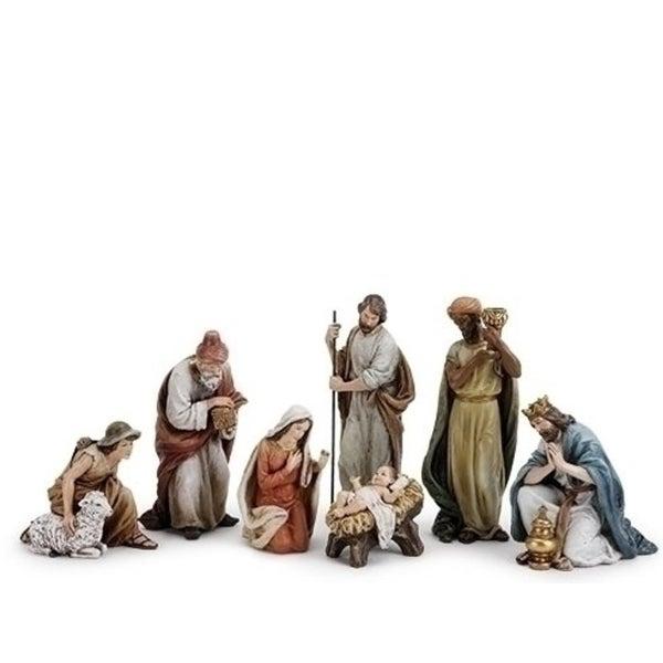 "7 Piece Joseph's Studio Nativity Set With Shepherd Figures 9.5"" - WHITE"