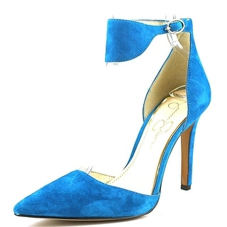 Jessica Simpson Cita Women Pointed Toe Suede Blue Heels