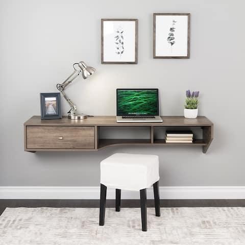 Prepac Modern Floating Desk with Drawer