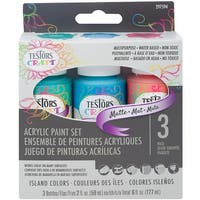 Testors Craft Acrylic Paint Set 3/Pkg-Island Colors Matte