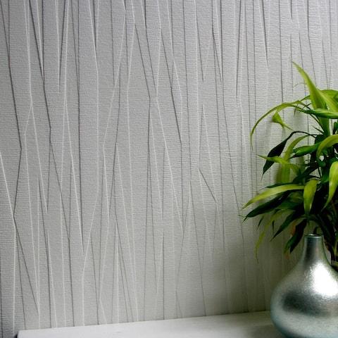 Fresno, Folded Paper Paintable Textured Vinyl Wallpaper