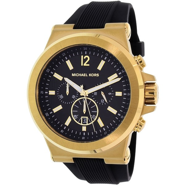 Michael Kors Men's Black Rubber Quartz Dress Watch
