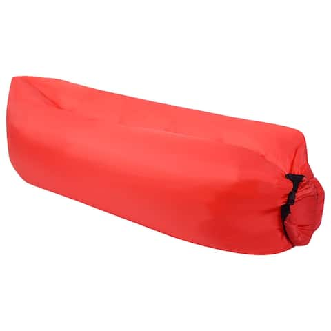 Outdoor Portable Lazy Inflatable Sleeping Camping Bed-Red
