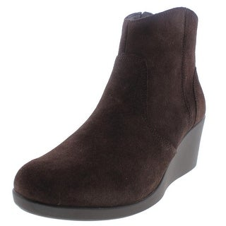 Crocs Womens Wedge Boots Suede Bootie