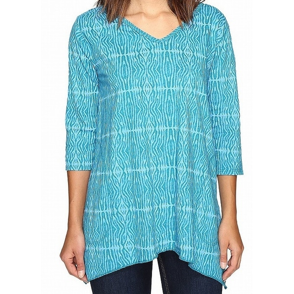 5c6954017a8 Shop Fresh Produce Blue Serengeti Printed Women's Size Small S Tunic Top -  Free Shipping On Orders Over $45 - Overstock - 27971280