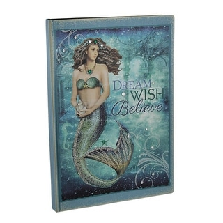 Bedazzled Blue Sparkling Mystical Mermaid Journal 8.25 X 6 Inch