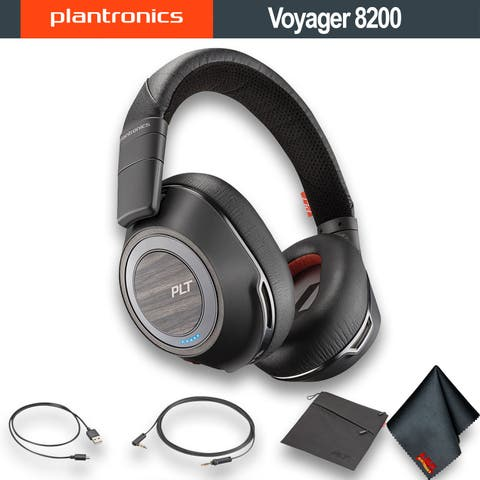 Plantronics Voyager 8200 UC Bluetooth Headset with USB Type-A Adapter (Black) Bundle