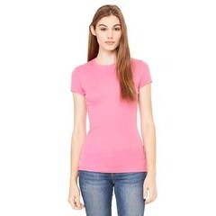 8701 BE 8701 SHEER MINI RIB S/S TEE VERY PINK s - Very Pink