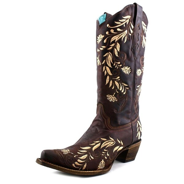 Corral A3057 Women Pointed Toe Leather Brown Western Boot