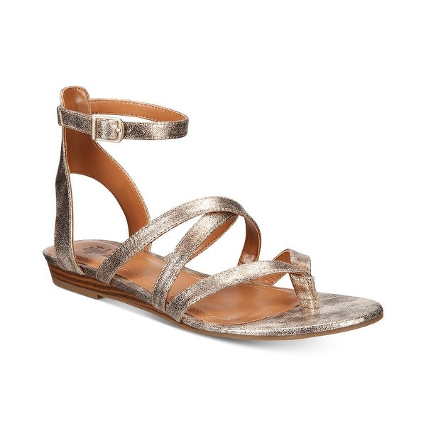 Style & Co Bahara Gladiator Sandals Shoes Gold - 7 b(m)