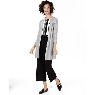 Link to Charter Club Women's Pure Cashmere Pointelle-Stitch Cardigan Size Extra Small - Silver - X-Small Similar Items in Women's Sweaters