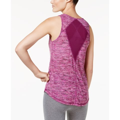 Ideology Women's Space-Dyed Mesh-Back Tank Top Plum Space XXL - Multi - XXL (18)