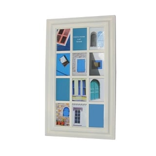 "29"" Cream White Photo Picture Frame Window Collage Wall Decoration"