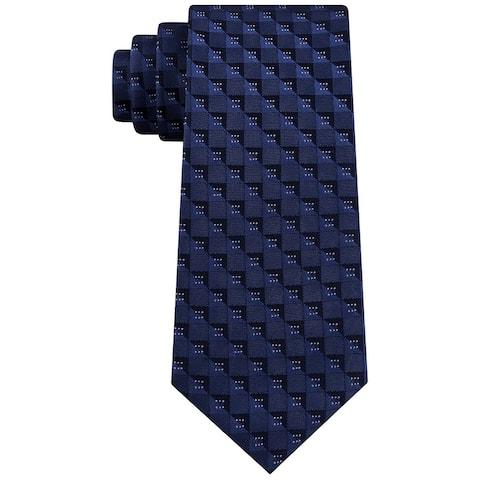 Kenneth Cole Reaction Men's Classic Geometric Tie Blue Size Regular