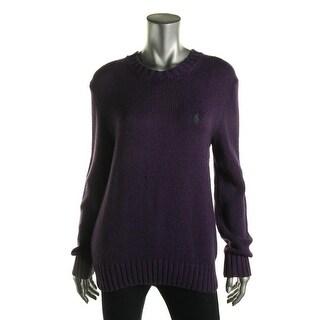 Polo Ralph Lauren Womens Cotton Knit Crewneck Sweater - S