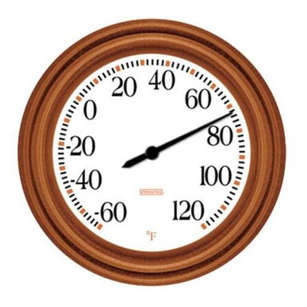 """Springfield 91581 Dial Thermometer 8.5"""" Copper Finish"""