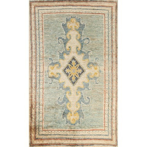 """Geometric Moroccan Oriental Area Rug Hand-knotted Traditional Carpet - 6'1"""" x 8'9"""""""