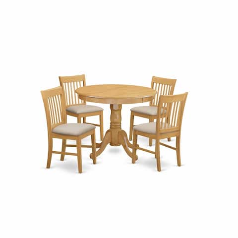 Dinette table set - Small kitchen table and set of dining chairs in Oak Finish