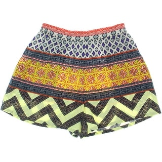 Sanctuary Womens Printed High Waisted Casual Shorts