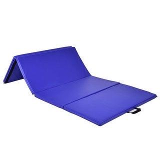 Costway 4'x8'x2' Gymnastics Mat Thick Folding Panel Exercise Mat Blue
