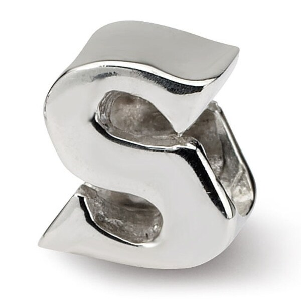 Sterling Silver Reflections Letter S Bead (4mm Diameter Hole)