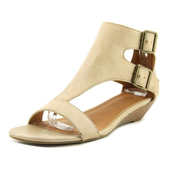 160db14c383 Shop Sugar Womens  Wigout Demi Wedge T-Bar Open Toe Buckle Sandal ...