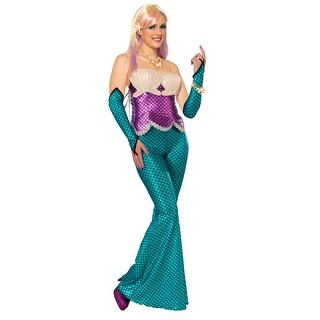 Mermaid Sexy Corset Costume Top Pink One Size
