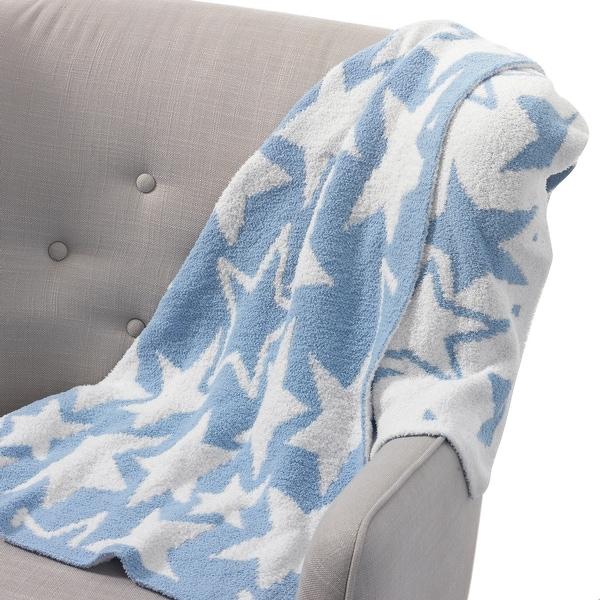 Lambs /& Ivy Ahoy Blue//Navy//White Nautical Soft Minky Baby Blanket