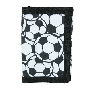 CTM® Kid's Soccer Ball Print Trifold Wallet - One size