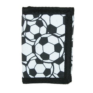 CTM® Kid's Soccer Ball Print Trifold Wallet