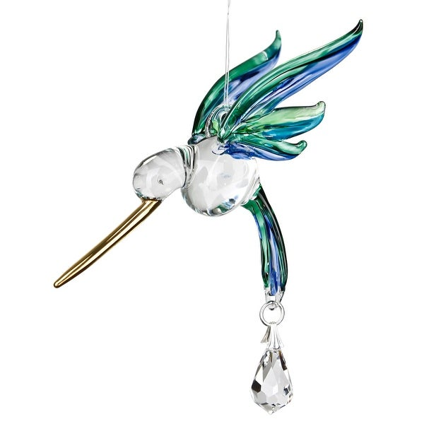 Fantasy Glass Hummingbird Rainbow Maker Peacock