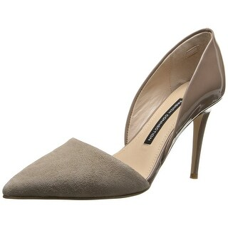 French Connection Womens FC-ELVIA Leather Pointed Toe D-orsay Pumps