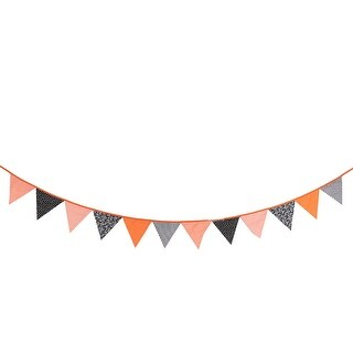 Halloween Festival Cotton Blends Triangle Sheet Party DIY Hanging Decor Photo Prop Banner