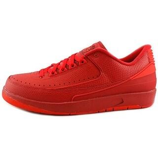 Jordan Air Jordan 2 Retro Low Men Round Toe Synthetic Red Fashion Sneakers