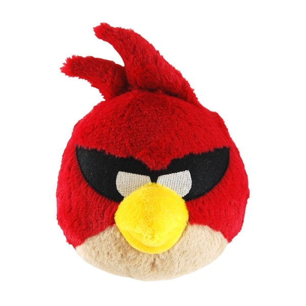 """Angry Birds Space 5"""" Plush With Sound: Super Red Bird - multi"""
