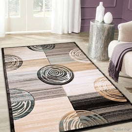 "AllStar Rugs Dusk Hand Carved Indian Contemporary Design Area Rug (5' 2"" x 7' 2"")"