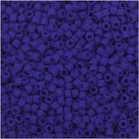 Miyuki Delica Seed Beads, 11/0 Size, 7.2 Gram Tube, 756 Matte Opaque Royal Blue