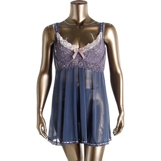 Coquette Womens Plus Babydoll Sheer Lace - 3X/4X