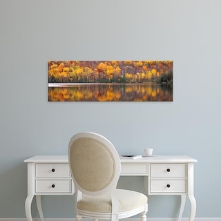 Easy Art Prints Panoramic Images's 'Laurentide Quebec Canada' Premium Canvas Art