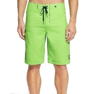Hurley NEW Green Neon Mens Size 30 Lace Up Board Shorts Swimwear