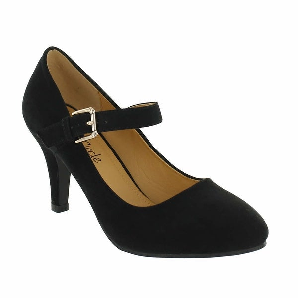 Red Circle Footwear 'Alaska' Almond Toe Pump in Black