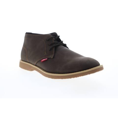Levis Sonoma Wax NB Brown Mens Boots Chukka Boots