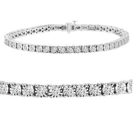 Amanda Rose AGS Certified 2ct tw Diamond Tennis Bracelet in 14K White Gold