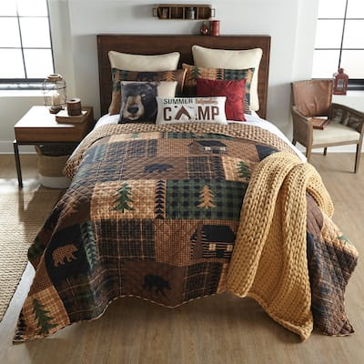 Your Lifestyle by Donna Sharp Brown Bear Cabin Bedding Set
