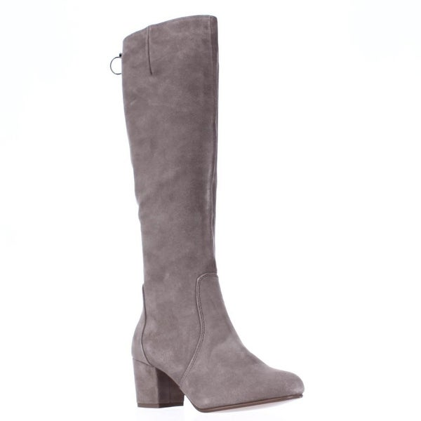 Steve Madden Haydun Block Heel Tall Boots, Taupe Suede. Opens flyout.