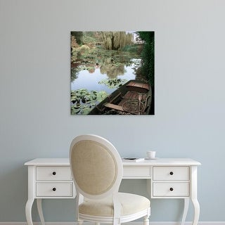 Easy Art Prints Alan Blaustein's 'Giverny Boat #1' Premium Canvas Art