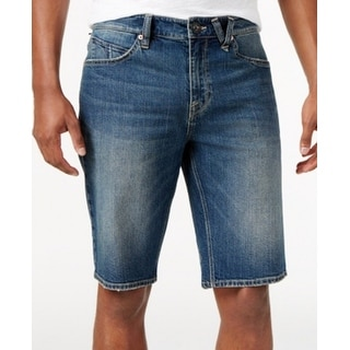 Volcom NEW Blue Mens Size 36 Regular Straight Denim Kinkade Shorts