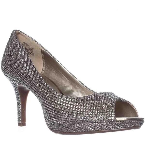 Bandolino Supermodel Peep-Toe Pump Heels, Gold