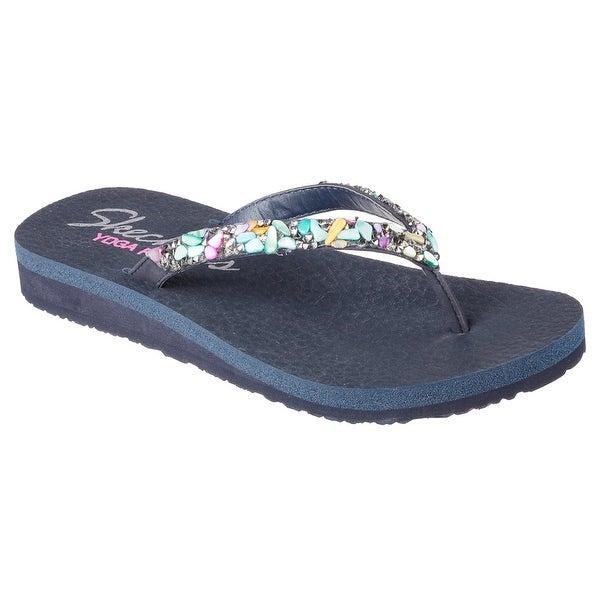 Skechers 38619 NVMT Women's MEDITATION-BREAK WATER Sandals